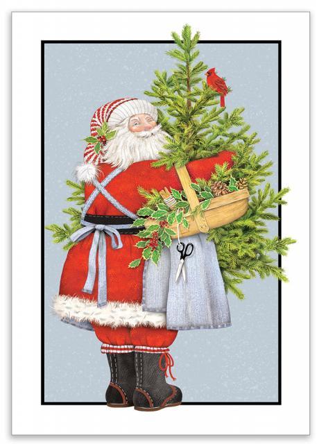 santa tree 10 cards envelopes sugarhouse greetings mlt206b