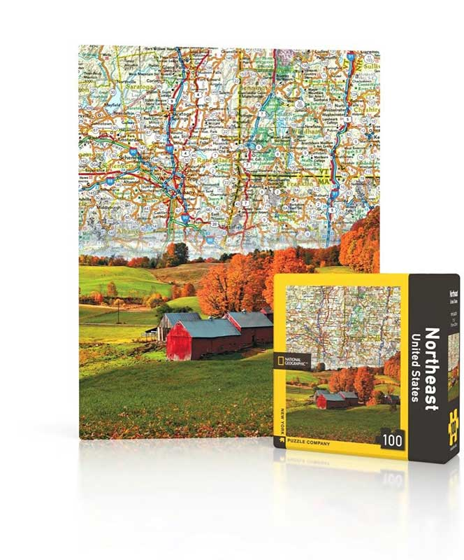 National Geographic Northeast United States Map Mini Puzzle 100 ...
