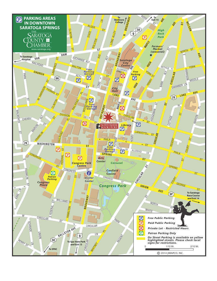 Saratoga Springs Parking Map