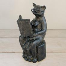 Liberty Cat Figurine Reading